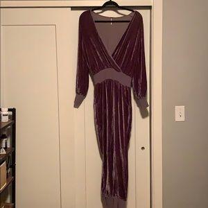 806b823551d7 Young Fabulous   Broke Pants - Ambrosia Velvet Jumpsuit in Oakwood